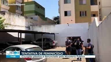 Cirurgião plástico é denunciado pelo Ministério Público por tentativa de feminicídio em GO - Crime teria acontecido no estacionamento de um hospital de Goiânia.