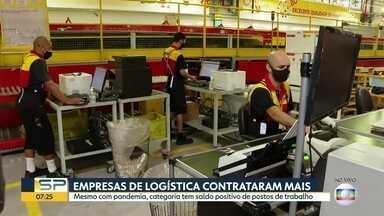 Número de vagas em empresas de logística aumentou em 2020 - Saldo positivo contrasta com o setor de serviços, que é recordista de postos fechados no ano.