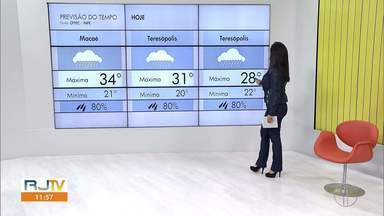Veja a previsão do tempo para as cidades do interior do Rio - Confira as temperaturas dos municípios para esta quinta-feira (08).