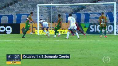 Cruzeiro perde para o Sampaio Corrêa e segue na zona de rebaixamento da Série B - Goleiro Fábio desabafou contra a diretoria e também contra ex-dirigentes.