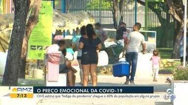 """O preço emocional da Covid-19 - OMS estima que """"fadiga da pandemia"""" chegue a 60% da população em alguns grupos."""