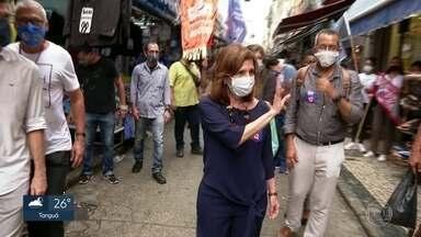 Martha Rocha (PDT) faz campanha no Saara - A candidata à prefeitura do Rio conversou com o presidente da Associação de Comerciantes e debateu as medidas para retomar a economia do Centro do Rio.