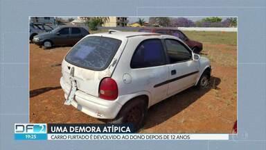 Carro é devolvido ao dono 12 anos depois de ser furtado; ele estava no pátio da delegacia - Polícia diz que vai apurar o motivo da demora.
