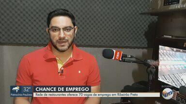 Rede de restaurantes oferece 70 vagas de emprego em Ribeirão Preto - Esse é um dos destaques da Rádio CBN Ribeirão.