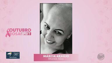 Conheça a história de Márcia Araújo, curada há 3 anos do câncer - Mulheres contam histórias de superação ou tratamento da doença.