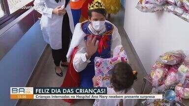 Pequenos pacientes do Hospital Ana Nery ganham presentes e festa no Dia das Crianças - Confira a comemoração que alegrou a unidade hospitalar nesta segunda-feira (12).