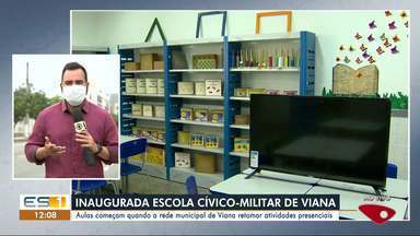 Escola cívico-militar de Viana é inaugurada - Confira na reportagem.