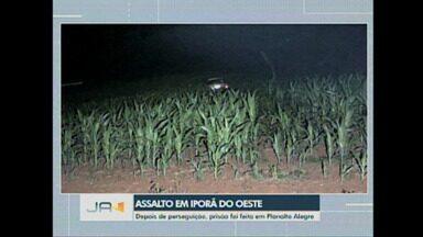 Assalto em Iporã do Oeste: Depois de perseguição, prisão foi feita em Planalto Alegre - Assalto em Iporã do Oeste: Depois de perseguição, prisão foi feita em Planalto Alegre