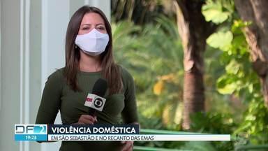 Dois casos de violência doméstica na frente de crianças - Um caso foi no Recanto das Emas e o outro em São Sebastião.