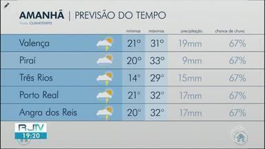 Confira a previsão do tempo para a terça-feira na região - Veja como fica o clima nas cidades do Sul do Rio.