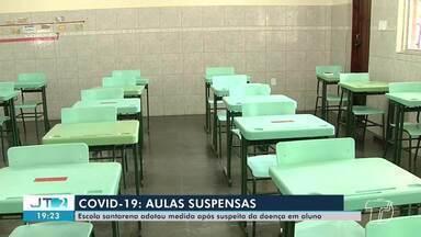 Escola suspende aulas presenciais por 10 dias após aluno apresentar sintomas de covid-19 - Colégio Dom Amando adotou medidas para proteger os funcionários e alunos; veja.