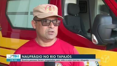Corpo de jovem que estava desaparecido após naufrágio no Rio Tapajós é encontrado - Clayton Viana de Sousa foi resgatado por militares do Corpo de Bombeiros. Jovem estava desaparecido desde a noite de sábado (10).