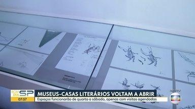 Museus-casas literários voltam a abrir na capital - Casa das Rosas, na Avenida Paulista, vai receber 10 visitantes por vez, agendados previamente.
