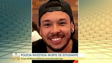 Corpo do estudante da UFRJ será enterrado nesta quarta-feira - O corpo de Marcus Vinícius Coelho foi encontrado com marcas de tiros, na Baixada Fluminense, no Rio de Janeiro.