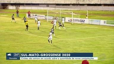 Clubes não entram em acordo sobre contratações para volta do estadual de 2020 - Clubes não entram em acordo sobre a quantidade de novas contratações para o retorno do campeonato sul-mato-grossense de 2020