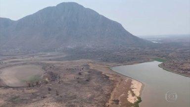 Fogo foi controlado na Serra do Amolar, em Mato Grosso do Sul - Equipes monitoram focos com risco baixo de propagação.