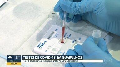População de Guarulhos pode fazer testes para Covid-19 no CEU Continental hoje e amanhã - Testagem é gratuita e voltada para pessoas que não estão com sintomas.
