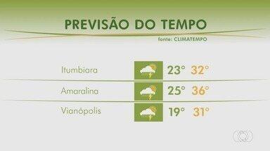 Veja como fica a previsão do tempo para esta semana em Goiás - Pode chover em várias regiões.
