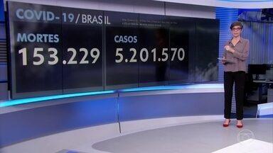 Brasil passa de 153 mil mortes por Covid-19 - Em 24 horas, foram registradas 716 mortes por causa da doença, segundo o Consórcio de Veículos de Imprensa.