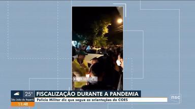 Polícia Militar fiscaliza aglomerações durante a pandemia - Polícia Militar fiscaliza aglomerações durante a pandemia