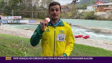 Pepê Gonçalves é bronze na Copa do Mundo de canoagem slalom - Pepê Gonçalves é bronze na Copa do Mundo de canoagem slalom