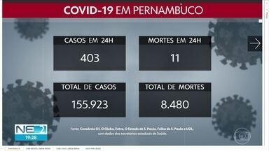 Pernambuco chega a 155.923 casos das Covid-19 e 8.480 mortes - Números da pandemia no estado foram atualizados pelo governo neste sábado (17).