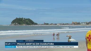 Prefeitura de Guaratuba libera acesso às praias - A circulação pelas praias estava restrita desde abril.