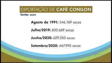 Café conilon do ES registra recorde de exportação em setembro - Assista.