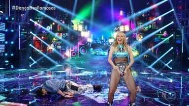 Luiza Possi dança 'Braba' com Daniel Norton - A cantora se apresenta no 'Dança dos Famosos'