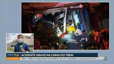 Todas as vítimas do acidente entre um trem e um micro-ônibus receberam alta - O acidente foi na linha do trem que passa pelo bairro Cajuru.
