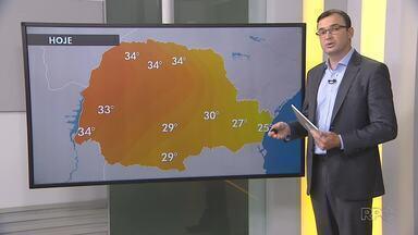 Temperatura volta a subir no Paraná - Pode chover de maneira localizada na região de Curitiba.