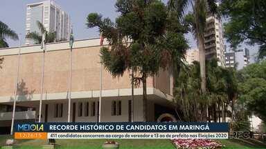 Maringá tem recorde de candidatos - São mais de 400 pessoas disputando vagas na prefeitura e Câmara.