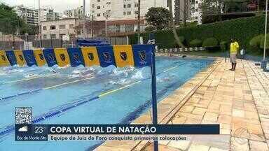 Equipe de Juiz de Fora é campeã de natação em copa virtual - Disputa on-line movimentou atletas da cidade. Nadadores comentam experiência.