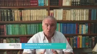 Candidato Domingos Andorfato fala da proposta sobre lazer em bairros de Araçatuba - Candidato Domingos Andorfato fala da proposta sobre lazer em bairros de Araçatuba nesta terça-feira (20).