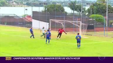 Campeonatos de futebol amador estão de volta no DF - Campeonatos de futebol amador estão de volta no DF