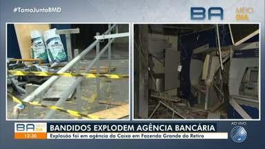 Bandidos explodem agência bancária no bairro da Fazenda Grande do Retiro, em Salvador - Crime ocorreu na madrugada desta terça (20) e assustou os moradores da região.