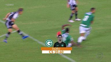 Goleiro Tadeu, do Goiás, é destaque no empate com o Botafogo - Goleiro Tadeu, do Goiás, é destaque no empate contra o Botafogo