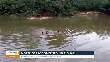 Morte por afogamento no Rio Jaru - Homem de 30 anos foi encontrado ontem a tarde.