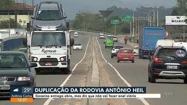 Governo entrega obra de duplicação da rodovia Antônio Heil, em Brusque, sem anel viário - Governo entrega obra de duplicação da rodovia Antônio Heil, em Brusque, sem anel viário
