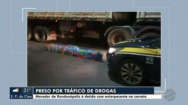 Morador de Rondonópolis é preso por tráfico de drogas - Morador de Rondonópolis é preso por tráfico de drogas; entorpecente estava escondido em carreta; veja mais