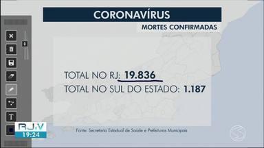 RJ2 atualiza os casos de Covid-19 na região - Angra dos Reis e Volta Redonda registraram novos óbitos pela doença. Veja os números da pandemia.