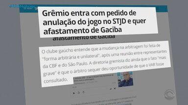 Grêmio pede anulação da partida contra o São Paulo no Tribunal de Justiça Desportiva - Assista ao vídeo.
