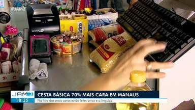 Cesta básica fica 70% mais cara em Manaus - Na lista dos mais caros estão leite, arroz e linguiça