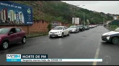 Sargento da Polícia Militar de Jaguaraçu morre com Covid-19 - Ele estava internado há 11 dias.
