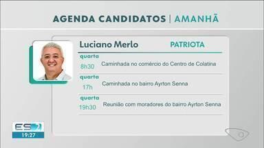 Confira a agenda dos candidatos à prefeitura de Colatina, ES, do dia 21 de outubro - Veja a reportagem.