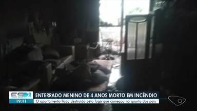 Vídeo mostra interior de apartamento após incêndio em Vitória - Veja a reportagem.