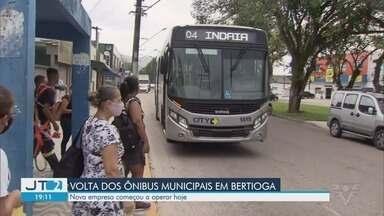 Nova empresa de transporte público passa a operar em Bertioga - Bertioga ficou quase dez dias sem ônibus municipal.