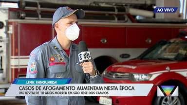 Casos de afogamentos aumentam nesta época - Um jovem de 18 anos morreu em São José dos Campos