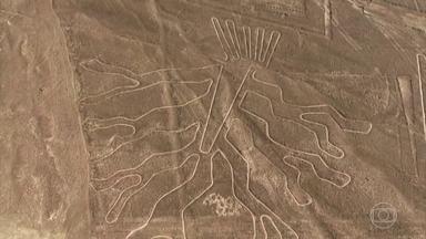 Linhas de Nazca: desenhos gigantes nas areias do deserto do Peru são mistério - Antes dos europeus desembarcarem na América, os povos que viviam no sul do país fizeram dezenas deles, que só foram descobertos depois que o homem começou a voar.