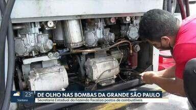 Mais de mil postos em todo o estado foram cassados por revender combustíveis adulterados - Nesta segunda (26), teve mais uma fiscalização em bombas de postos de gasolina na Grande São Paulo.